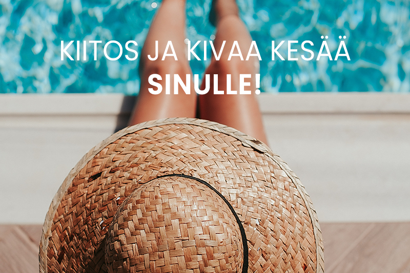Gredin tiimi palvelee sinua kesällä!